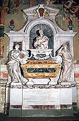Church of Santa Croce - Florence: the monumental tomb of Galileo Galilei